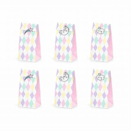 Unicorn Star Party Sweet Treat Bags & Stickers